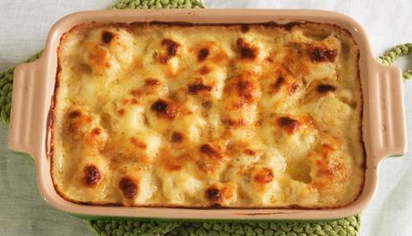 Baked Cauliflower Cheese