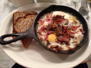 Baked Eggs and Mushroom