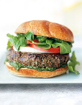 Beef Burgers with Mozzarella cheese