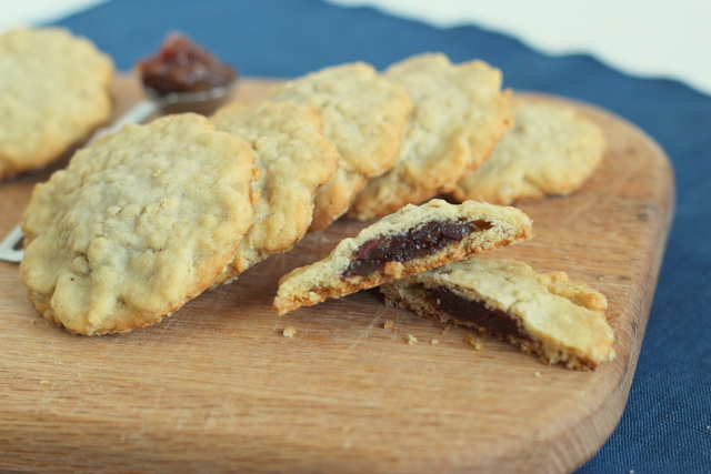 Butterscotch Cookies with Date Filling