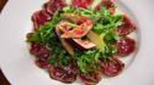 Carpaccio with Fig Puree