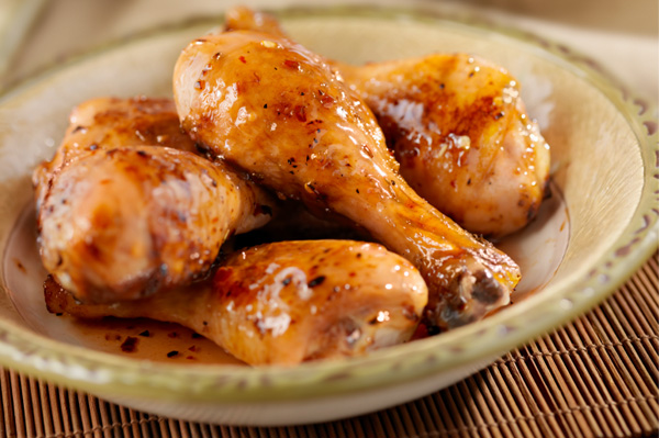 Chicken Drumsticks in Honey Mustard