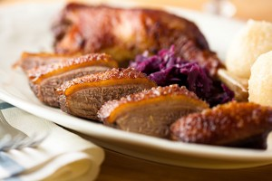 Duck with Plum and Ginger Glaze