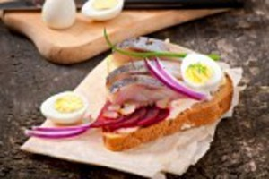 Egg and Herring on Rye
