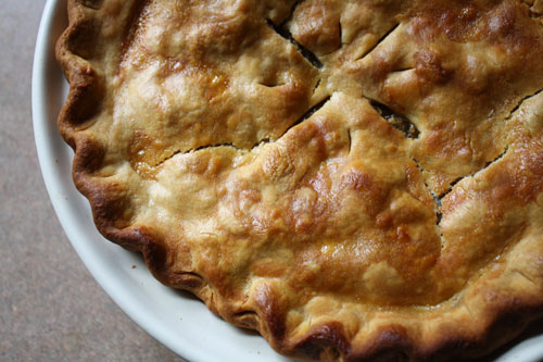 Green tomato and Apple pie