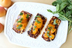 Grilled Halloumi Cheese with Mint