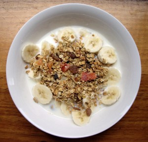 Hazelnut and Banana muesli