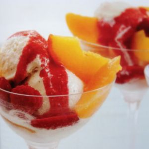 Peach and Vanilla Ice cream