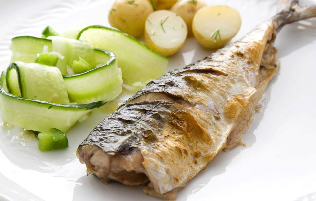 Mackerel with Cucumber