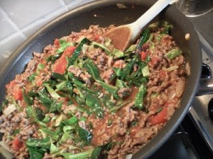 Minced Beef with Tomatoes