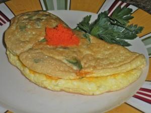 Fresh Herring roes and Tuna fish omelette