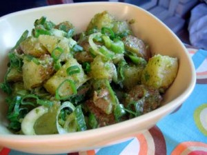 Potato with Basil Salad
