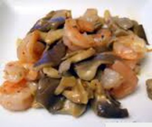 Prawns and Mushroom Salad