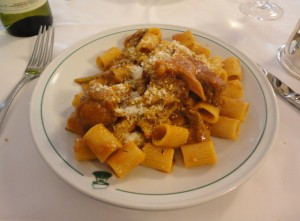 Rigatoni with Hare Sauce