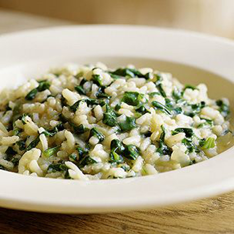Risotto and Spinach