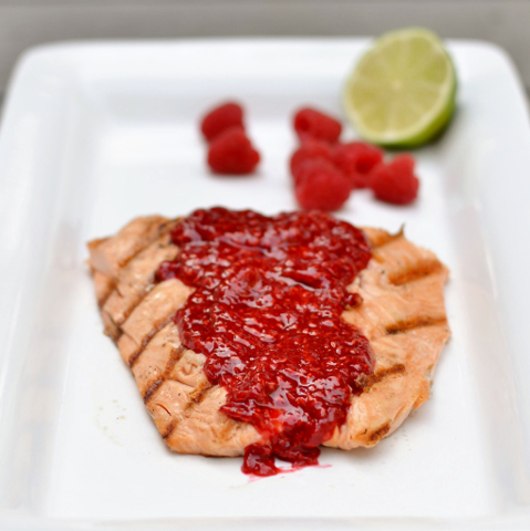 Salmon in Raspberry Vinegar
