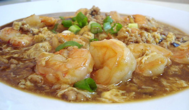 Shrimps with Lobster Sauce
