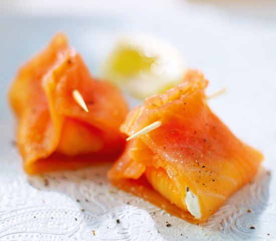Smoked Salmon and Monkfish Snack
