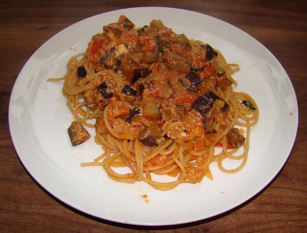 Spaghetti with Aubergine