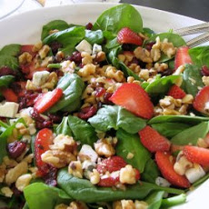 Spinach, Roquefort and Pomegranate Salad