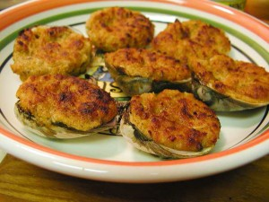 Stuffed Clams Normande